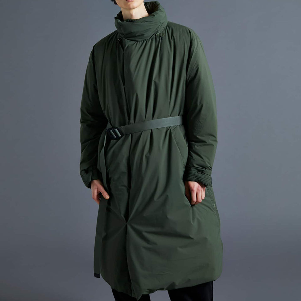 SLEEPING BAG LONG DOWN COAT - ARMY GREEN