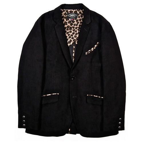 MOLESKIN TEDDY JACKET - BLACK
