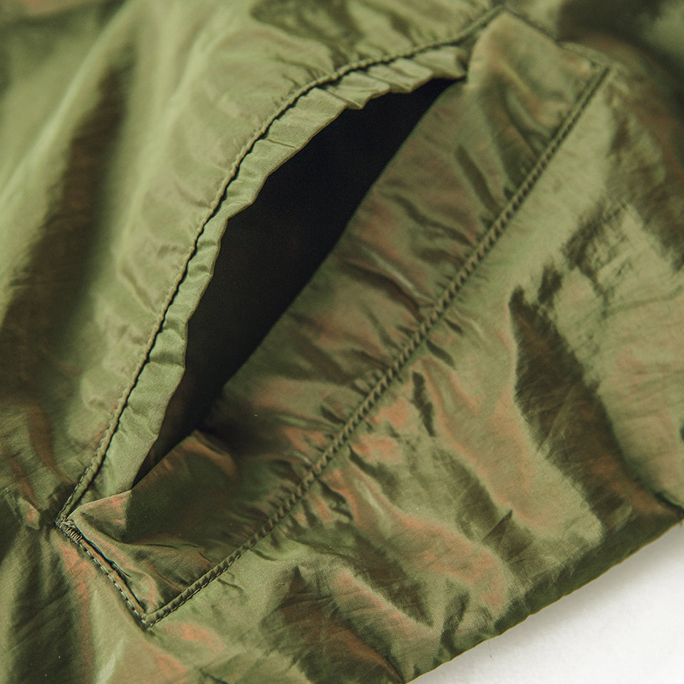 SUPER IRIDESCENT COACH JACKET - OLIVE