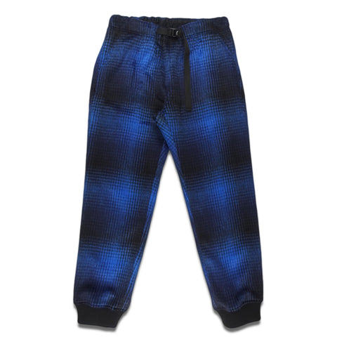 ts(s) - SHAGGY PLAID WOOL BLEND CLOTH / CLIMBING PANTS - BROWN