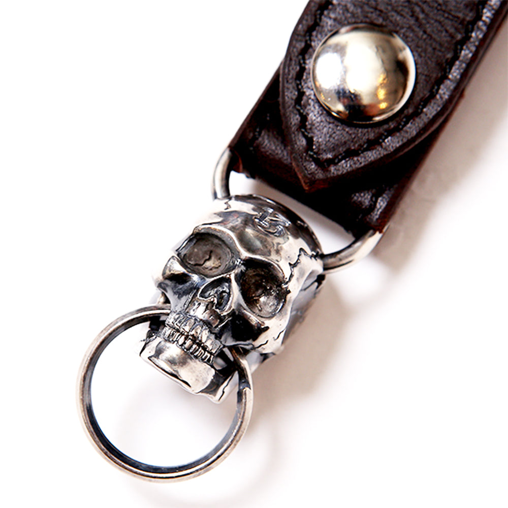 MAGICAL DESIGN - MOVABLE JAW SKULL KEY RING - SILVER