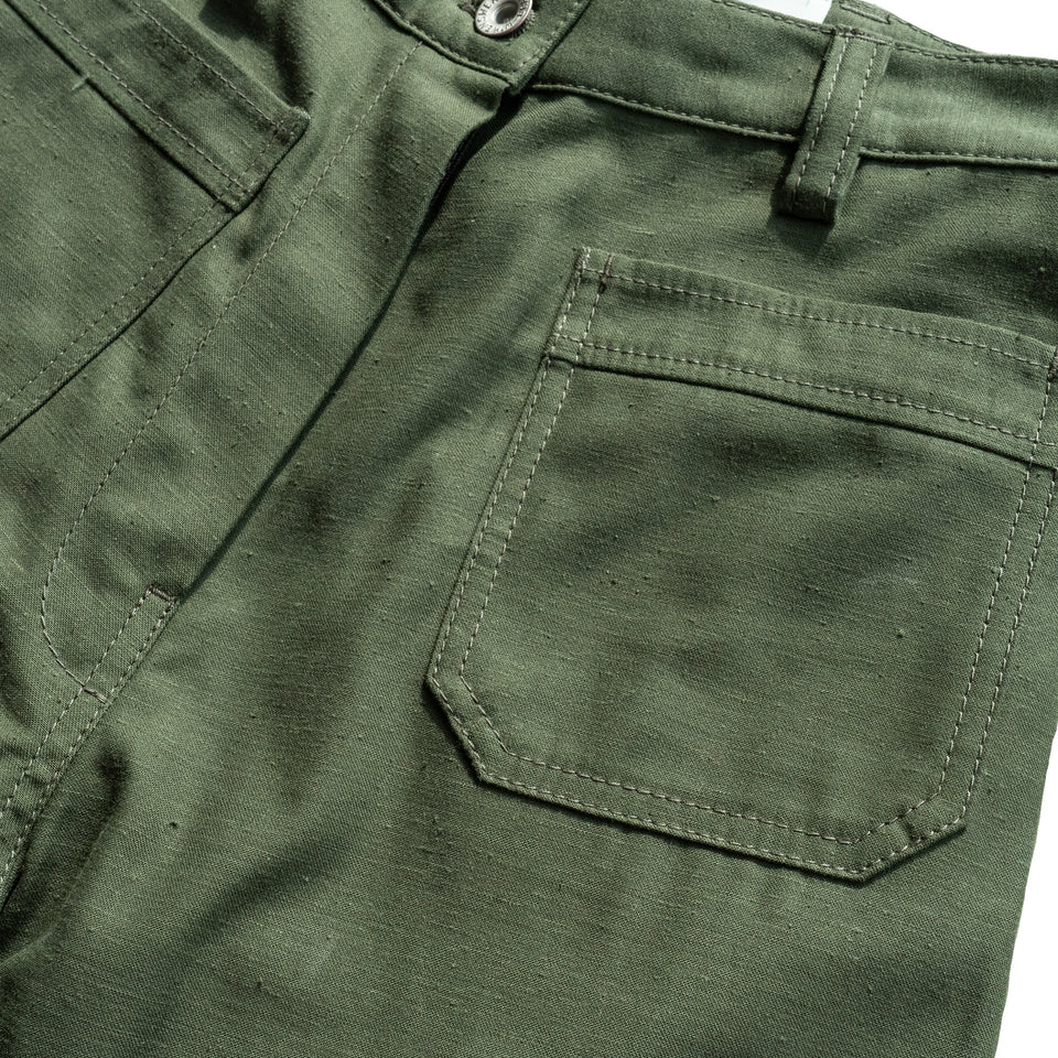 PEACE PATCH FLARE PANTS - OLIVE