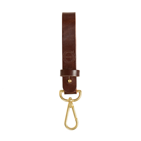 Long Key Tether - Black/Brass