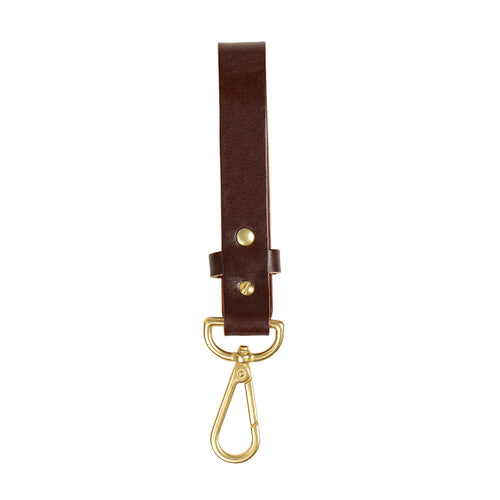 Long Key Tether - Deep Honey/Brass