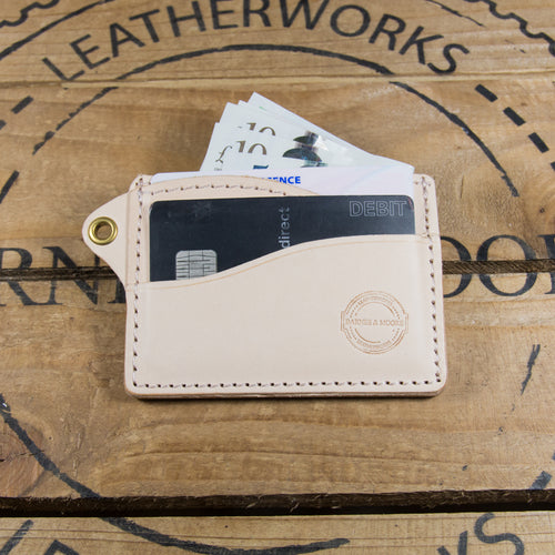 Riverman Card Holder - Natural English Veg Tan Edition