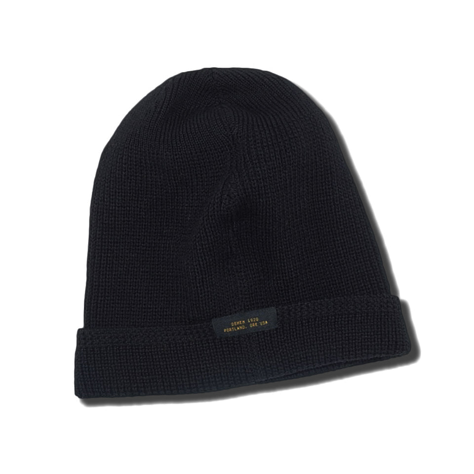 DEHEN 1920 - WOOL KNIT WATCH CAP - BLACK