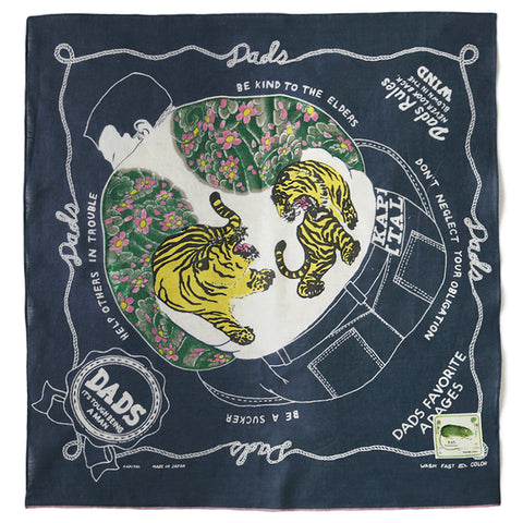 KAPITAL - FASTCOLOR SELVEDGE BANDANA (DENIM MAN IN MAZE)