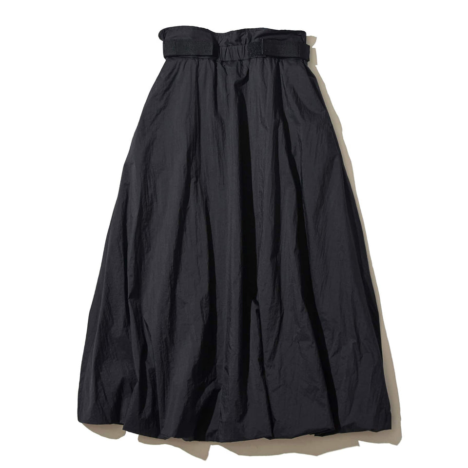ECO NYLON HIGH-WAISTED SKIRT - BLACK
