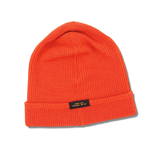 DEHEN 1920 - WOOL WATCH KNIT CAP - COUSTEAU ORANGE