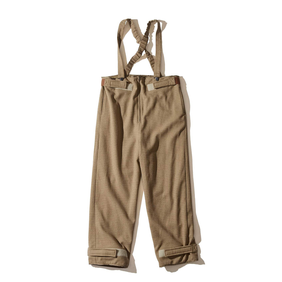 WOOL CHECK DECK PANTS - BEIGE