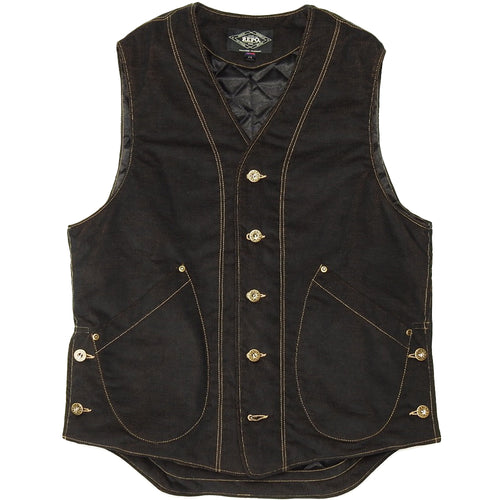 U.S.REPO - LIGHTHOUSE CORDUROY VEST - BLACK