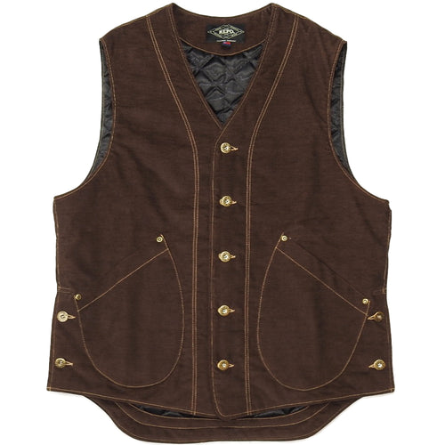 U.S.REPO - LIGHTHOUSE CORDUROY VEST - BROWN