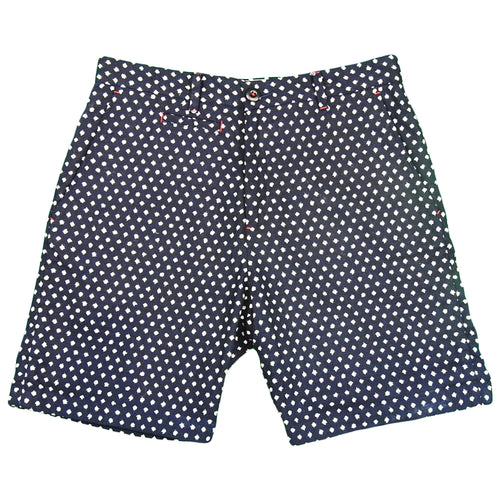 U.S.REPO - Indigo Dyed Discharged Short -  P.Dot