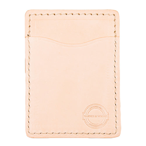 Tillerman Card Holder - Natural English Veg Tan Edition