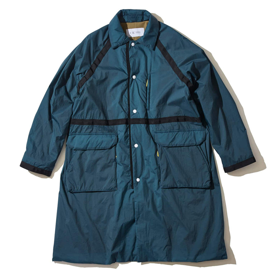RECYCLE NYLON WEATHER COAT - BLUE GRAY