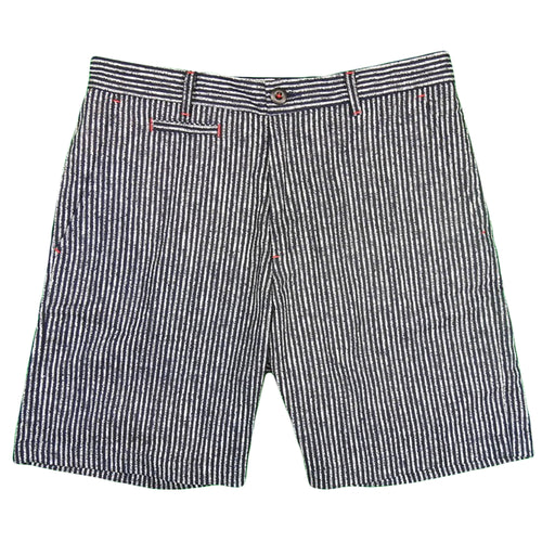 U.S.REPO - Indigo Dyed Discharged Short  - Stripe