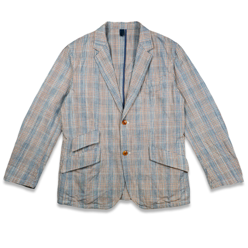 Color Glen Plaid Cotton/Linen Cloth Jacket
