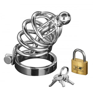 Asylum 4 Ring Locking Chastity Cage - Couples Playthings