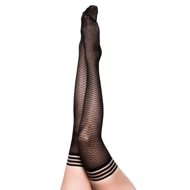 Beth Ann: A Deliciously Modern Take on the Traditional Fishnet Thigh Highs - Couples Playthings