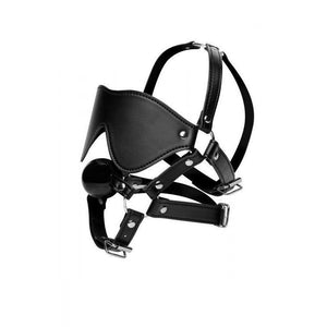 Blindfold Harness and Ball Gag - Couples Playthings