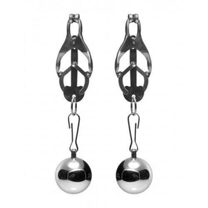 Deviant Monarch Weighted Nipple Clamps - Couples Playthings