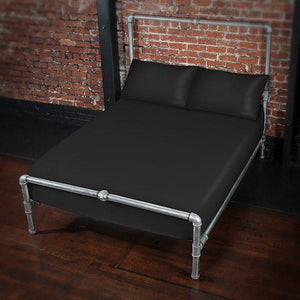 Funsheet Plus - Black Fitted Sheet - Couples Playthings