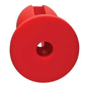 "Kink Wet Works 5"" Silicone Lube Luge Plug - Red - Couples Playthings"