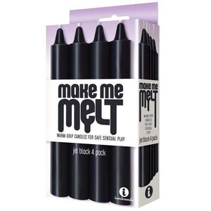 Make Me Melt Sensual Warm-Drip Candles (Jet Black) - Couples Playthings