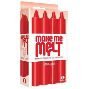 Make Me Melt Sensual Warm-Drip Candles (Red Hot) - Couples Playthings