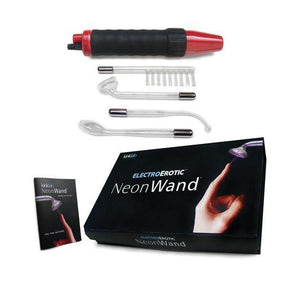 Neon Wand Electrosex Kit - Red - Couples Playthings