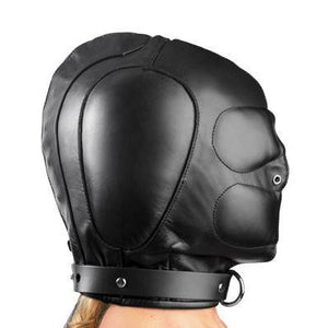 Padded Leather Hood - Couples Playthings