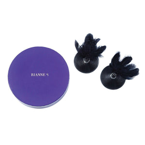 Pasties Birds - Black - Couples Playthings