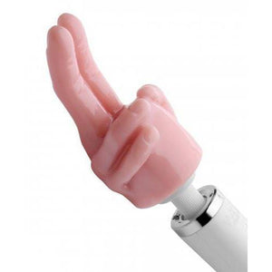 Pleasure Pointer Two Finger Wand Attachment - Couples Playthings