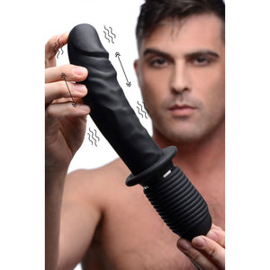 Power Pounder Vibrating & Thrusting Silicone Dildo - Couples Playthings