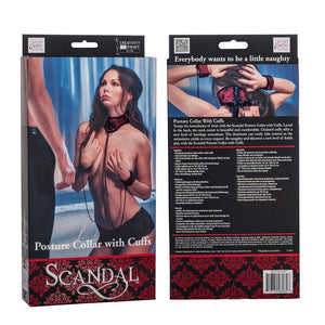 Scandal Posture Collar with Cuffs - Couples Playthings