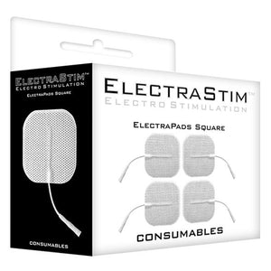 Square Self-Adhesive ElectraPads (4 Pack) - Couples Playthings