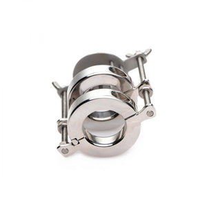 Stainless Steel Spiked CBT Ball Stretcher and Crusher - Couples Playthings