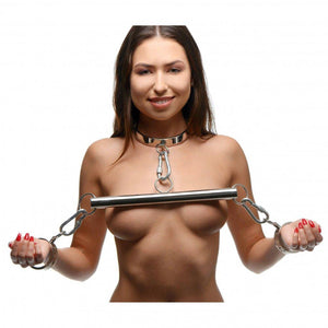 Stainless Steel Yoke with Collar & Cuffs - Couples Playthings