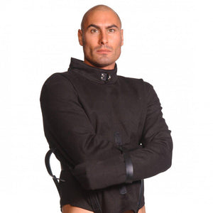 Strict Leather Black Canvas Straitjacket - Couples Playthings