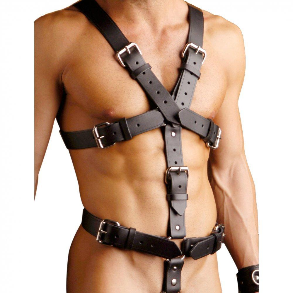 Strict Leather Body Harness - Couples Playthings