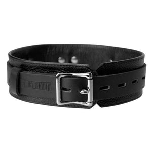 Strict Leather Deluxe Collar - Couples Playthings