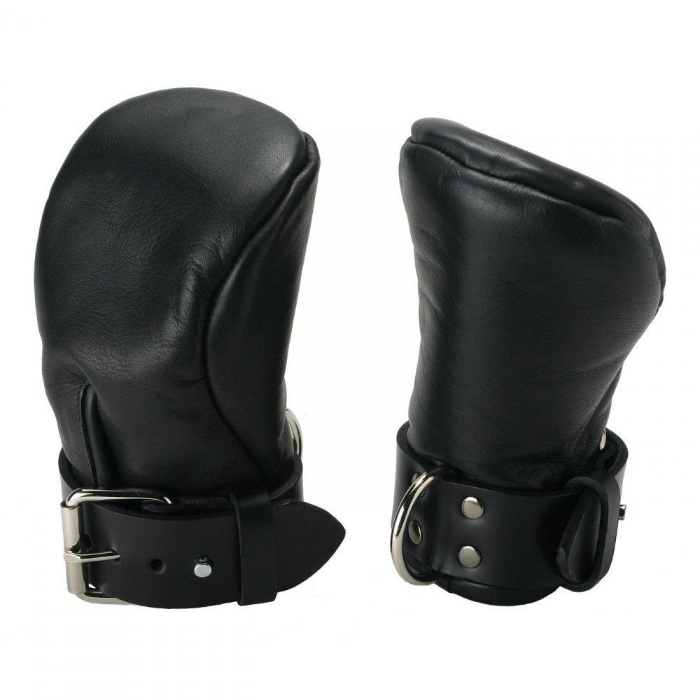 Strict Leather Deluxe Padded Fist Mitts - Small - Couples Playthings
