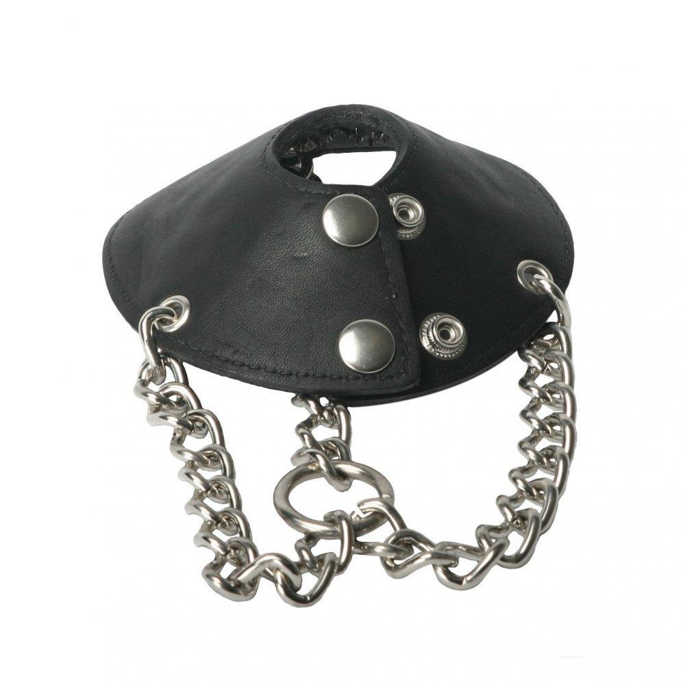Strict Leather Parachute Ball Stretcher with Spikes - Couples Playthings