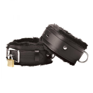 Strict Leather Premium Fur Lined Ankle Cuffs - Couples Playthings