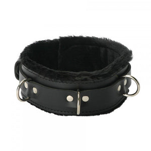 Strict Leather Premium Fur Lined Collar - Couples Playthings