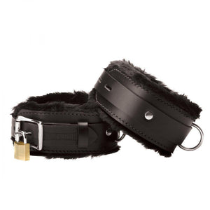 Strict Leather Premium Fur Lined Wrist Cuffs - Couples Playthings