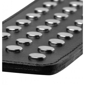 Strict Leather Studded Paddle - Couples Playthings