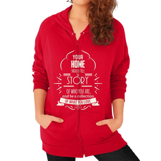 Zip Hoodie (on woman) Red horseshopmart
