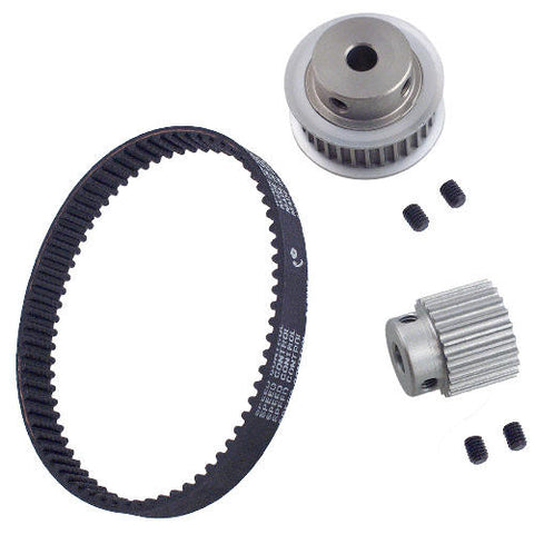 127-254 Ratio kit 8.72:1 75T Belt- Pulley 22/32