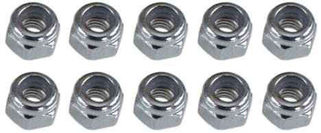 0019 3mm Lock Nut - Pack of 10